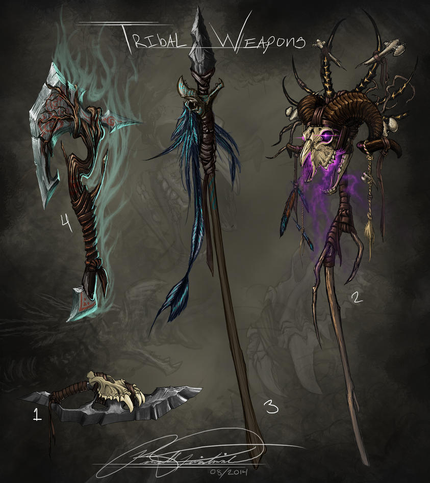 Tribal Weapons by RussFairchild