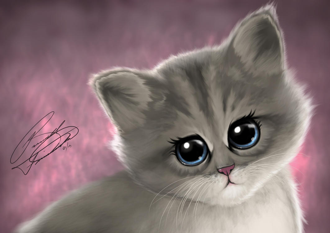 Kitten by RussFairchild