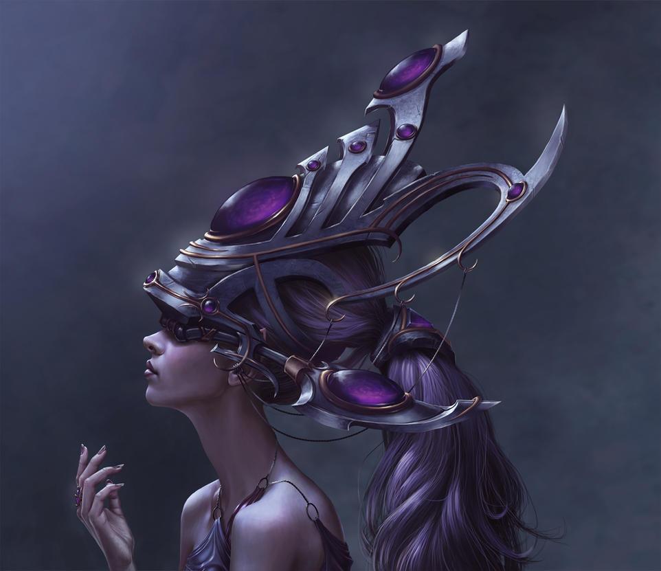 High Elf Star Priestess by RussFairchild
