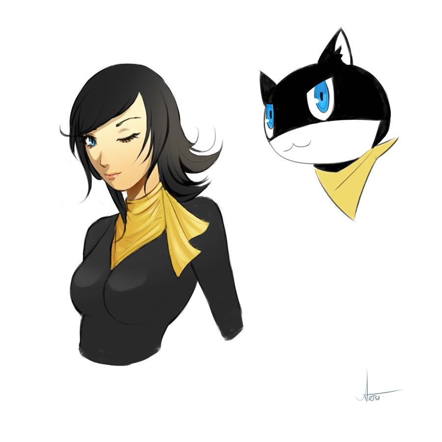 Persona 5 Morgana By Artsip On Deviantart I love morgana and he is one of my favorite. persona 5 morgana by artsip on deviantart