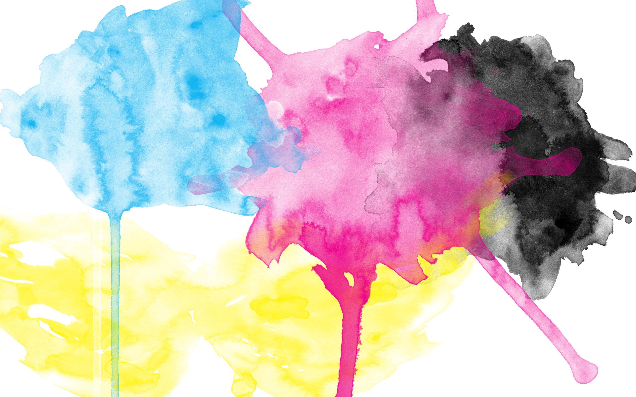CMYK Watercolor Wallpaper by brianlechthaler