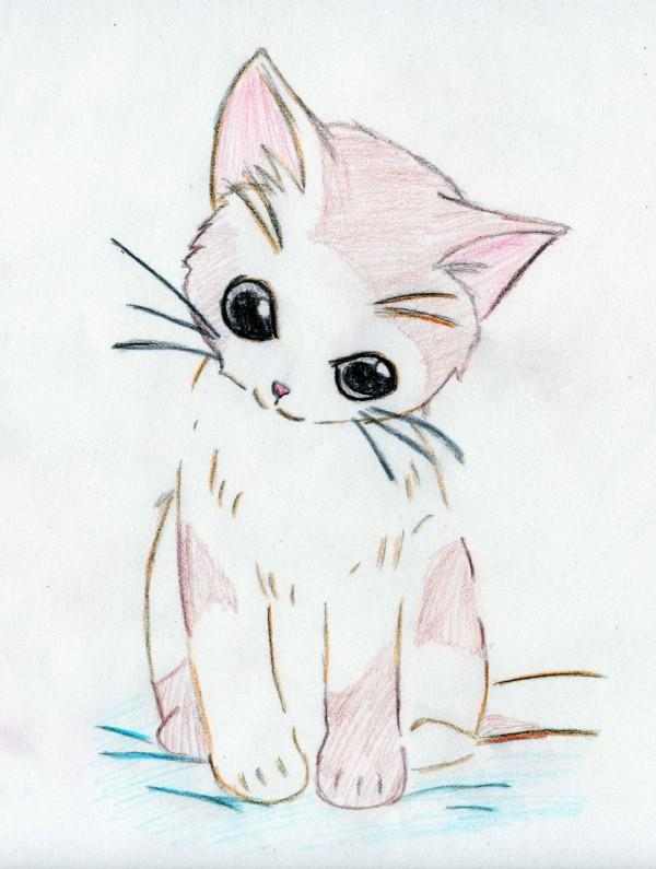 Cute anime kitten by mercuryh09