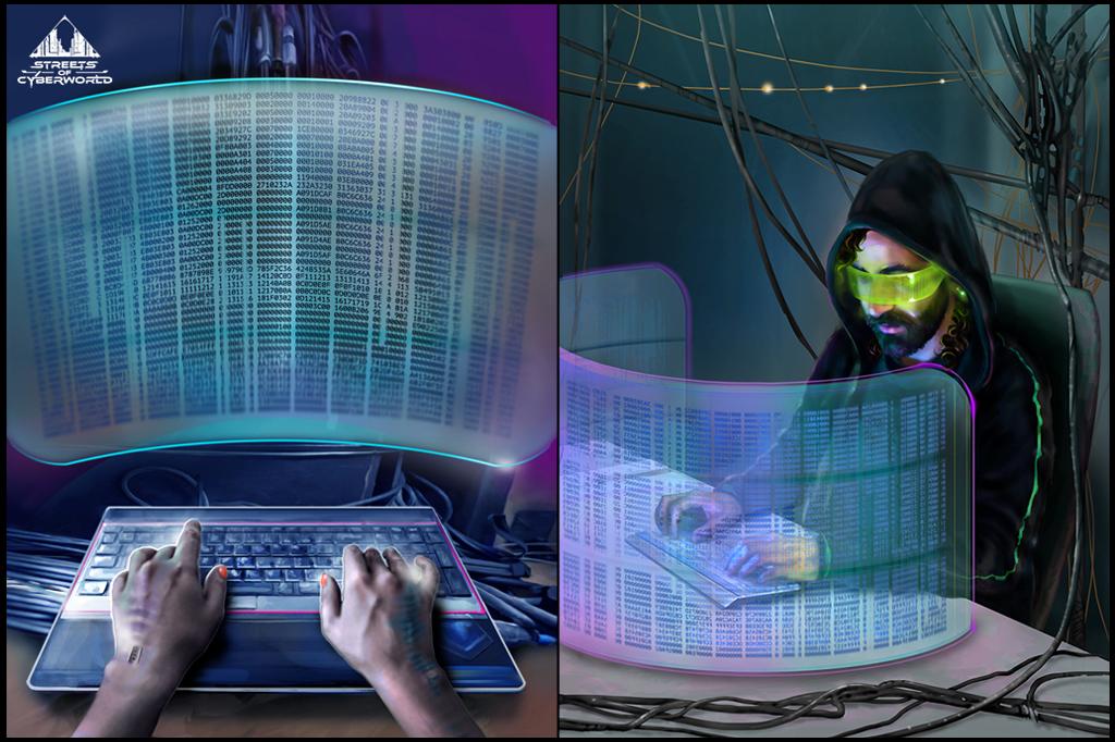 Hacker at work by Daywish