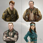 Four DVG Valkyrie Pilots by Daywish