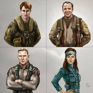 Four DVG Valkyrie Pilots