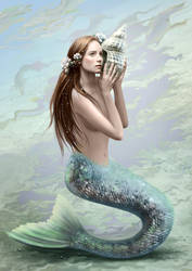Mermaid in the daylight