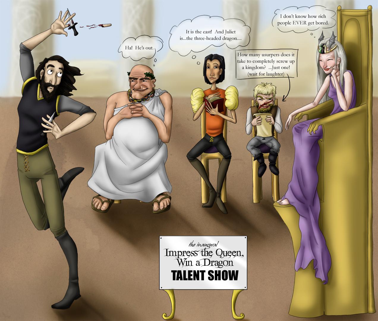 talent show - SPOILER WARNING by kaleadora