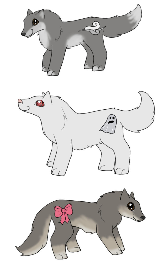 my little direwolves 1 by kaleadora