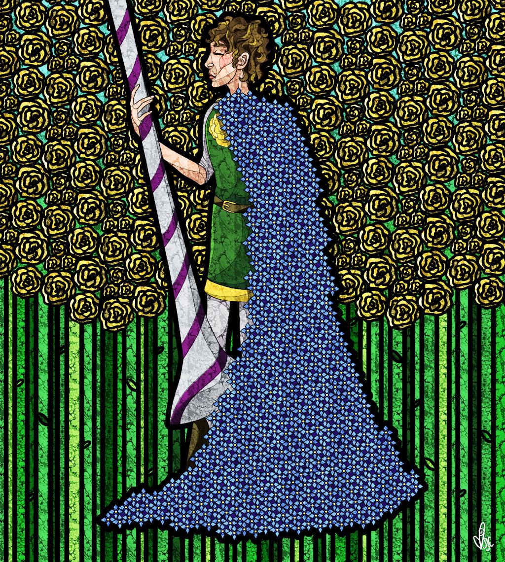 the knight of flowers by kaleadora
