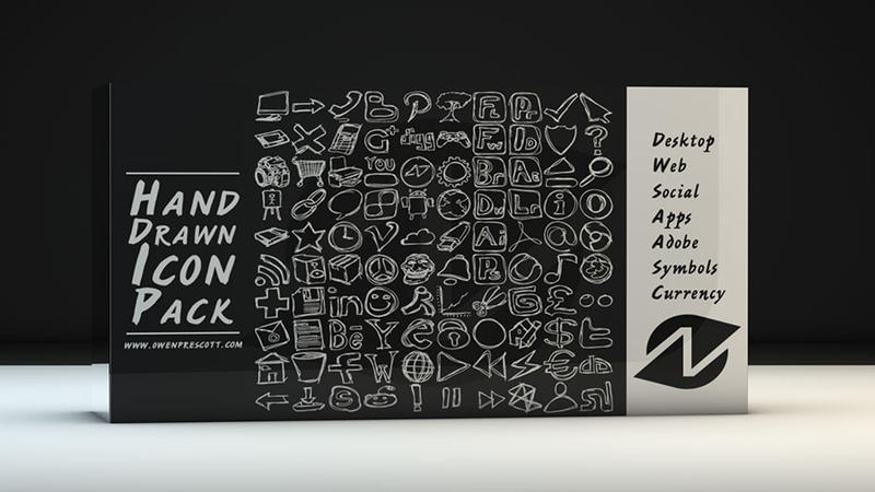 100 Free Hand-Drawn Icons