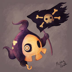 Pirate Duskull by MokkaQuill