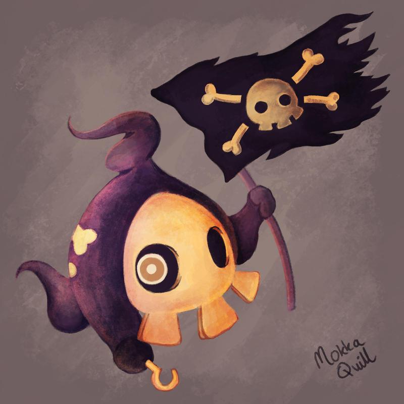 Pirate Duskull by MokkaQuill