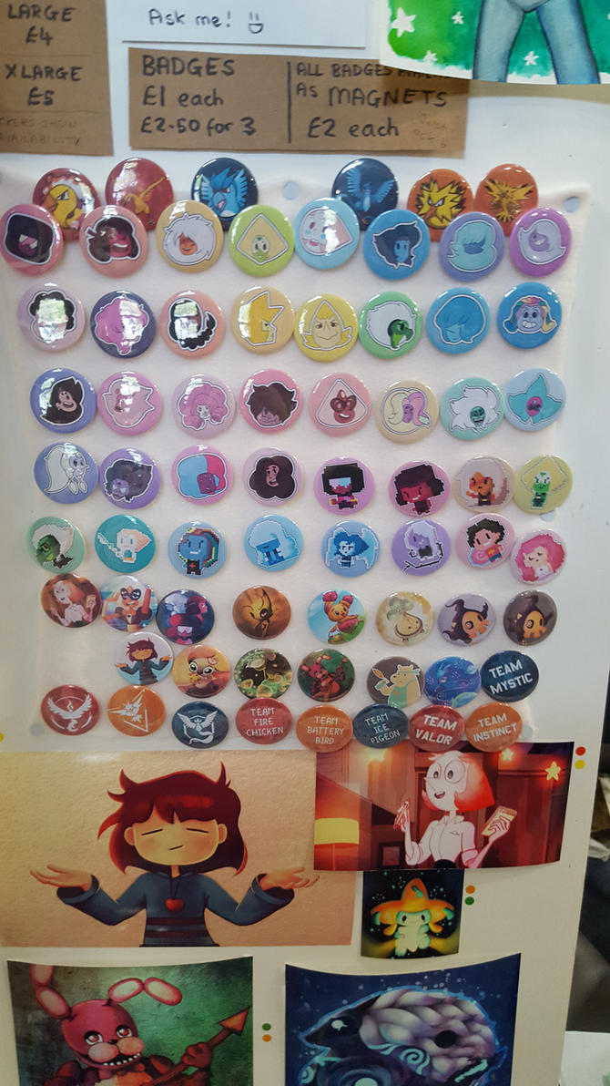 I have made too many badge designs by MokkaQuill