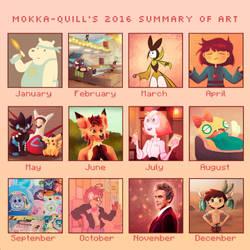 Summary Of Art 2016 by MokkaQuill