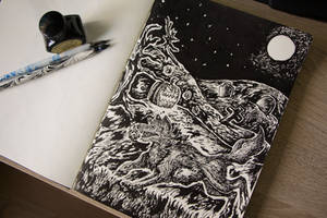 #31 Inktober Running Away From The Moon