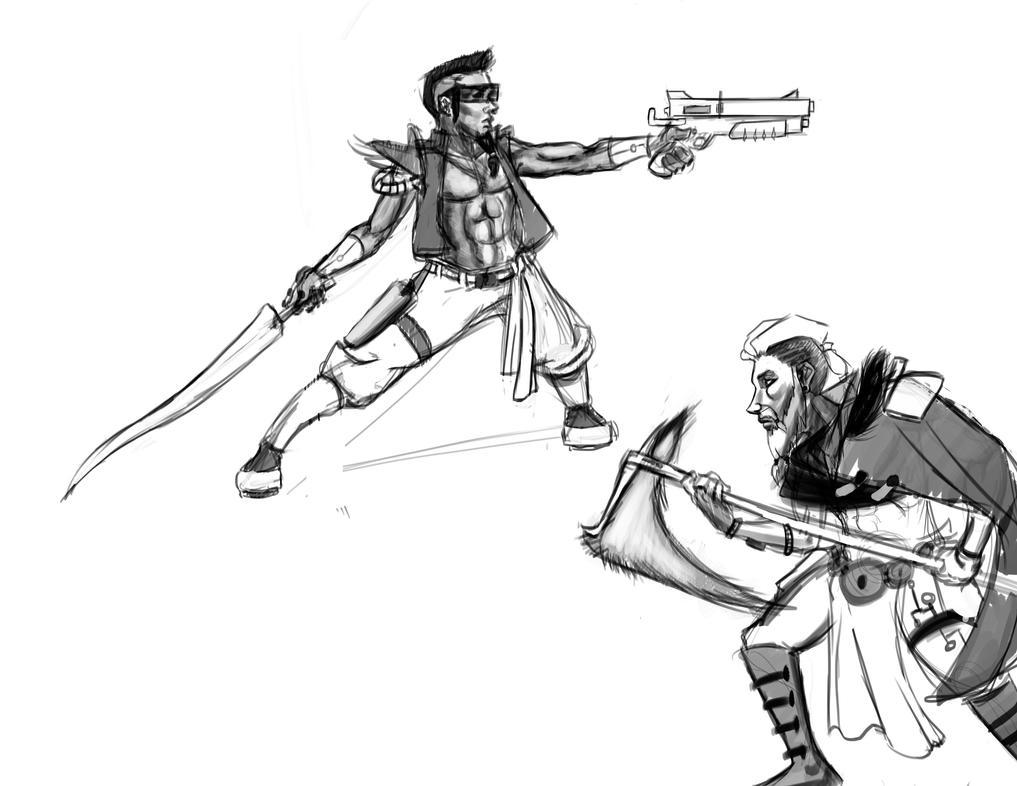 Random sketches by 0XButterzX0