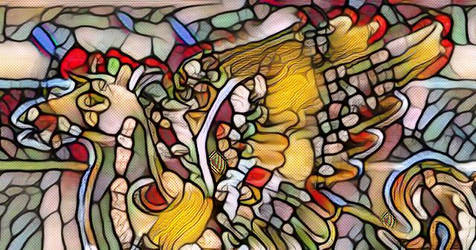 Stained Glass of Pegasus by astronomywandeer1995