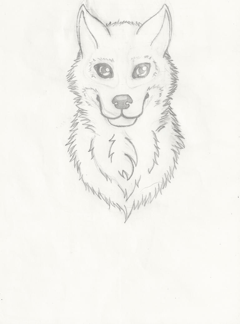 Wolfy Head  WIP by LuckyWolf27