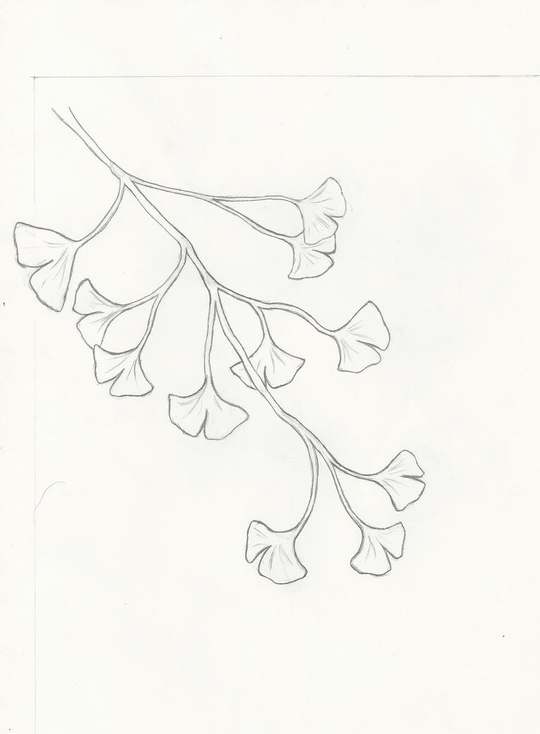 Ginkgo Branch Tatoo WIP by LuckyWolf27