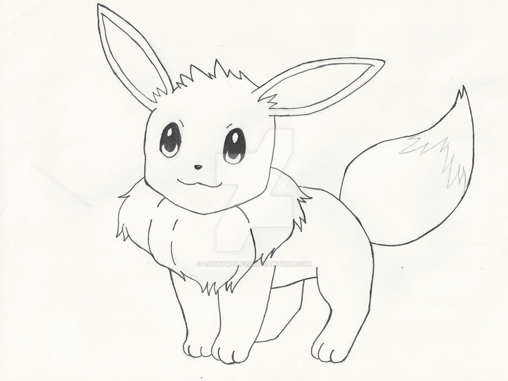 Evoli (Eevee) by LuckyWolf27