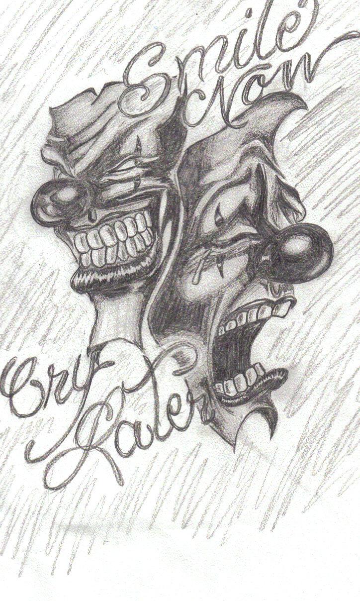 Gangster Drawings Of S... Easy Gangster Joker Drawings