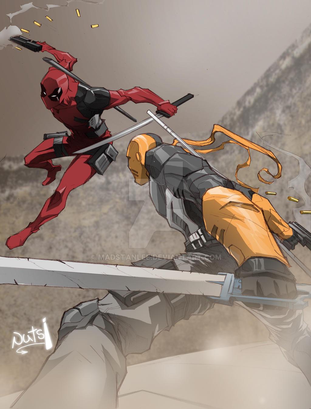 Deadpool Vs Deathstroke Battle Of The Wilsons By Madstanlee