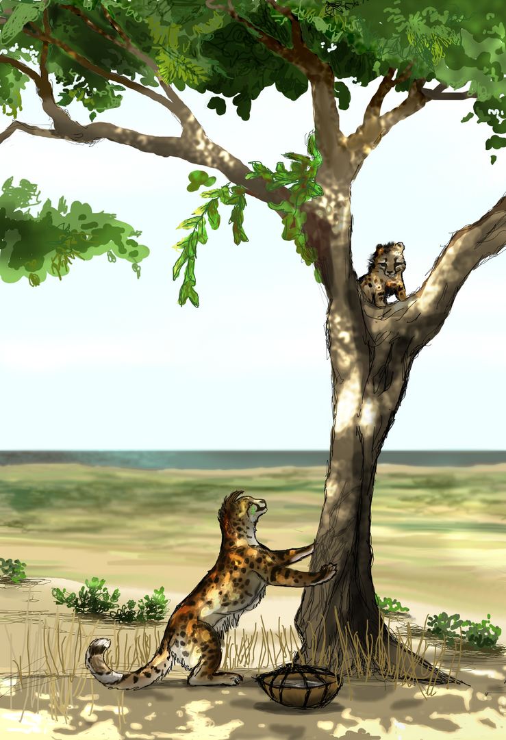day on the beach: kito and uchafu by CheeTree