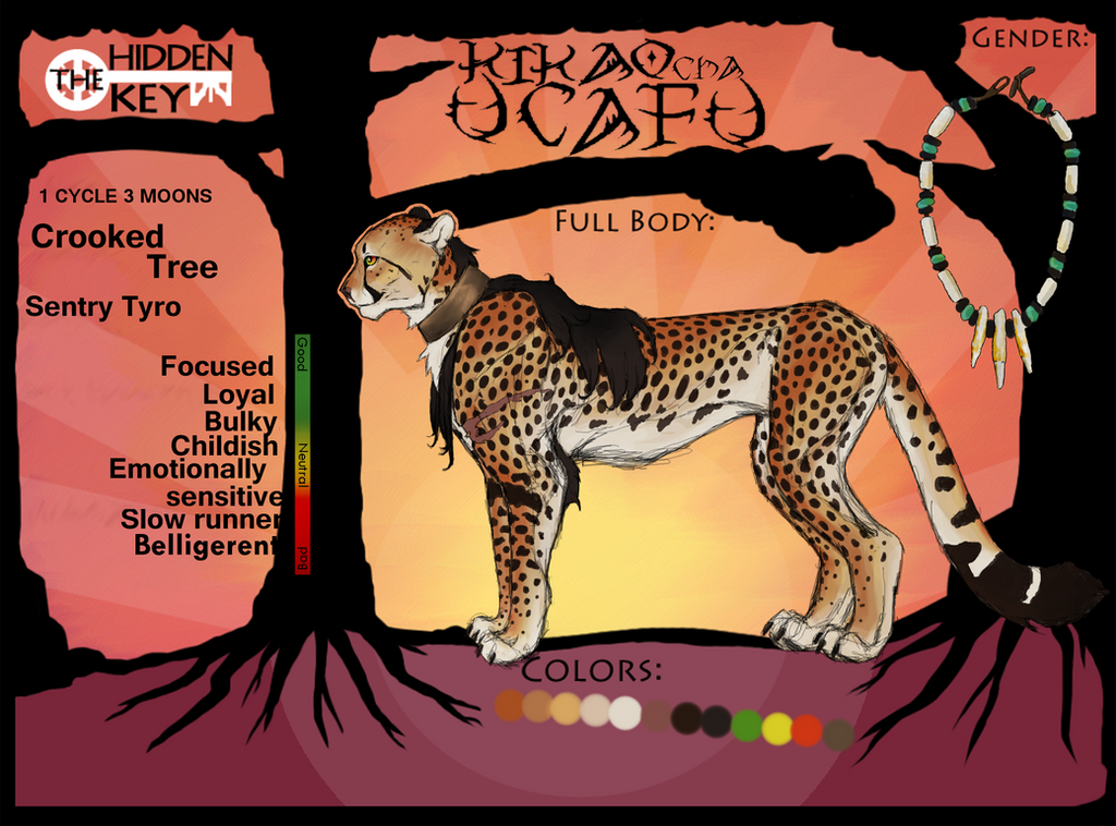 Kikao cha Uchafu: new ref sheet by CheeTree