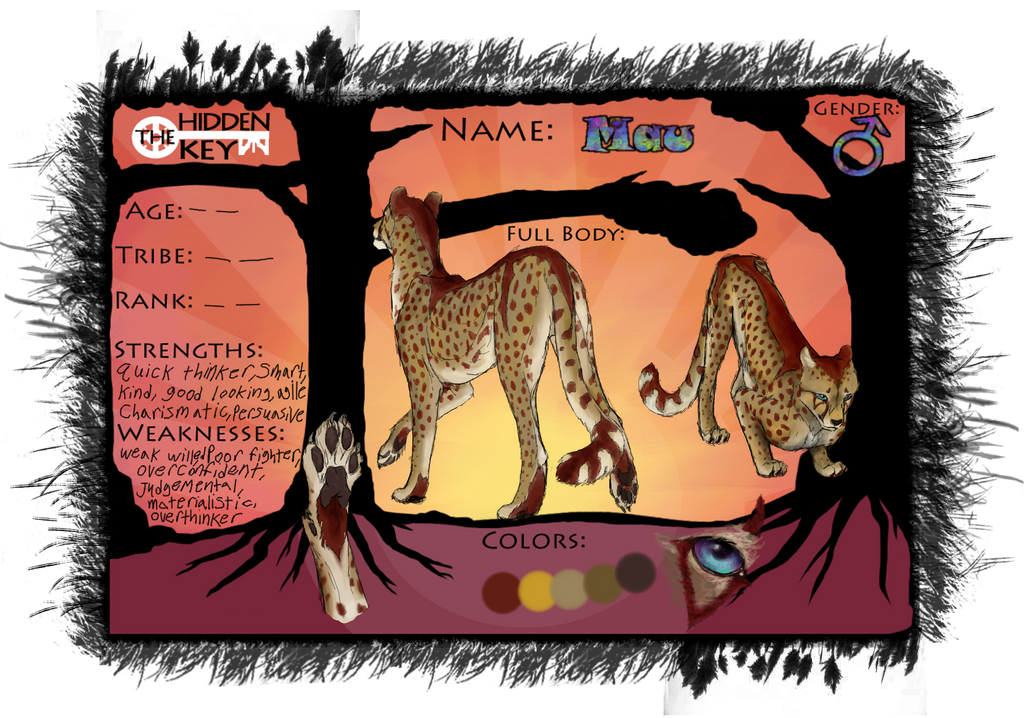 Mau unofficial ref sheet by CheeTree