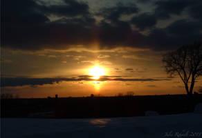 Golden Winter Sunset