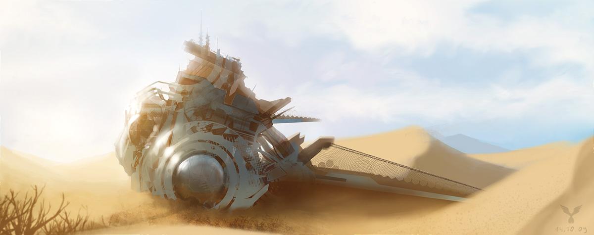 Desert Wreck by dasAdam