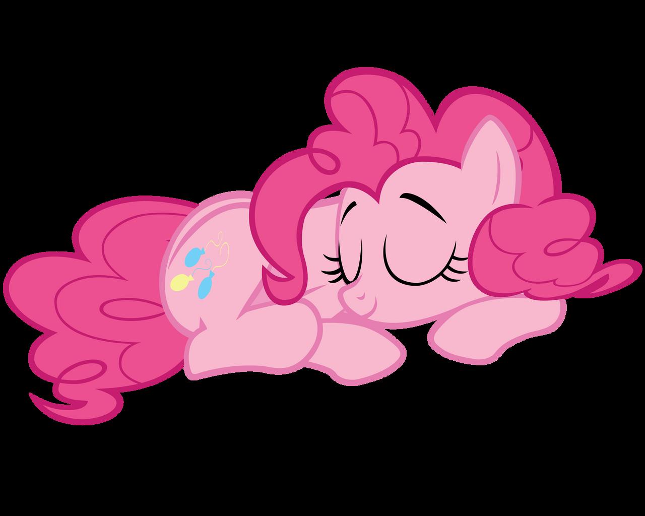 sleeping pinkie pie vector - photo #2