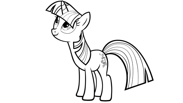 Twilight Sparkle LineArt