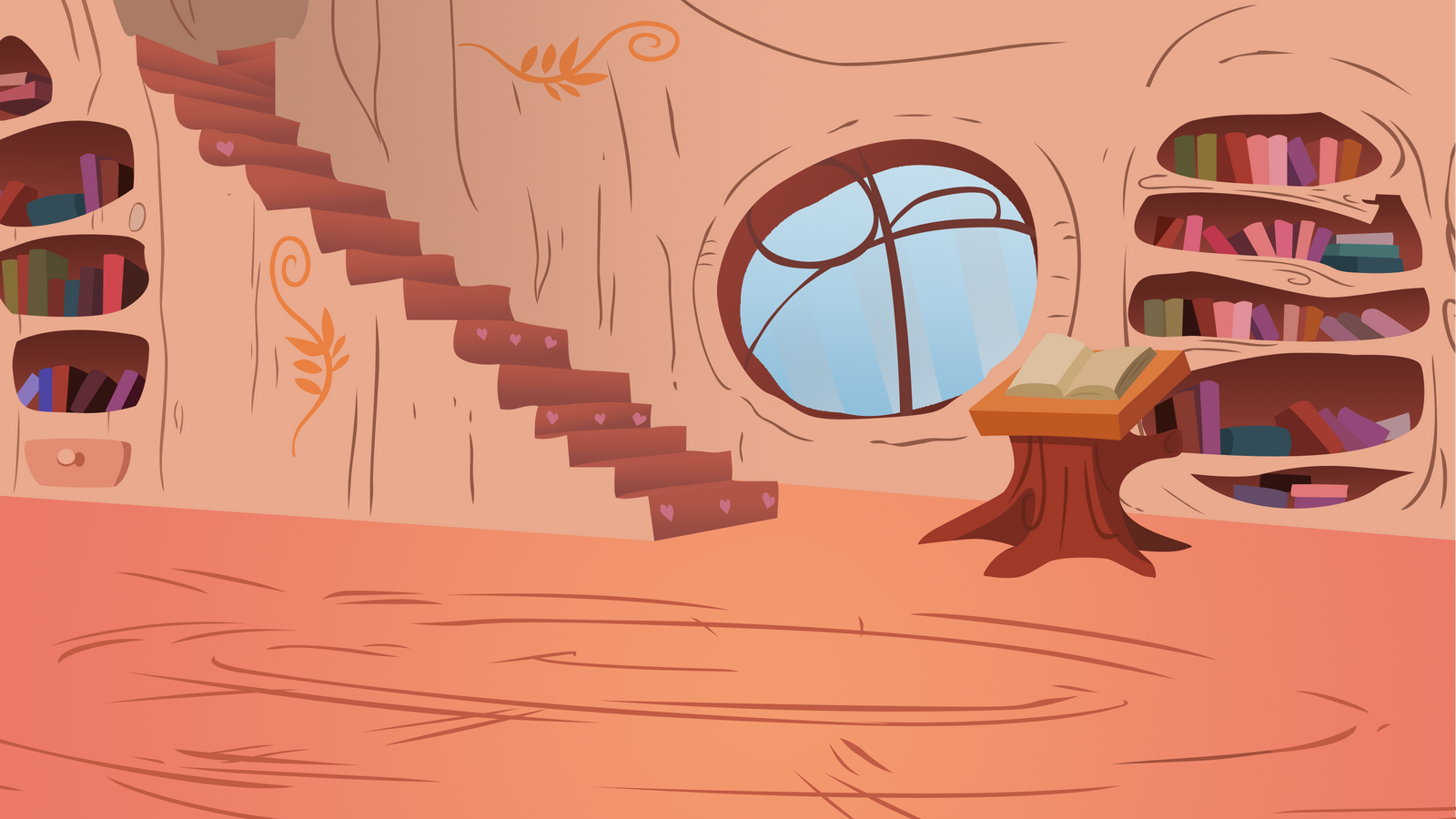 Ponyville Library Background