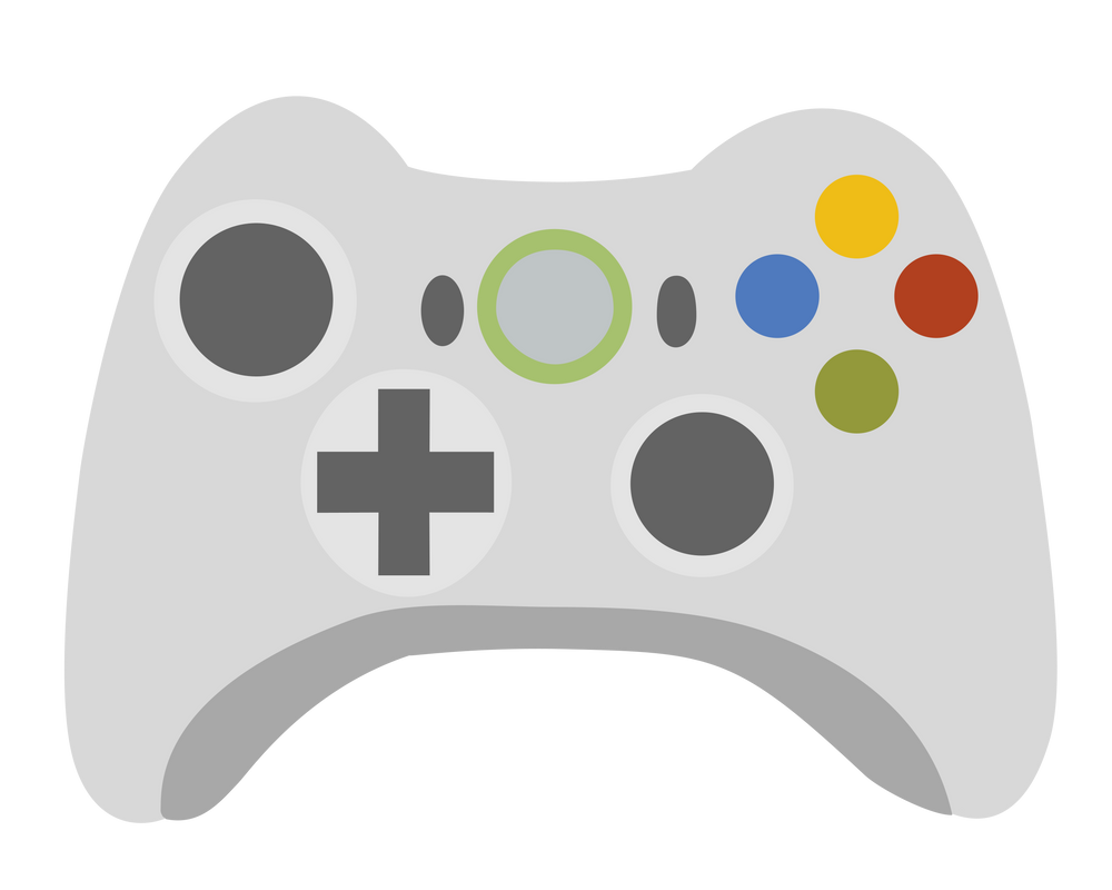 Coloring Pages Xbox 360 : Xbox 360 controller template. blank xbox 360 controller map by