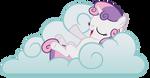Sweetie Belle on a Cloud Vector