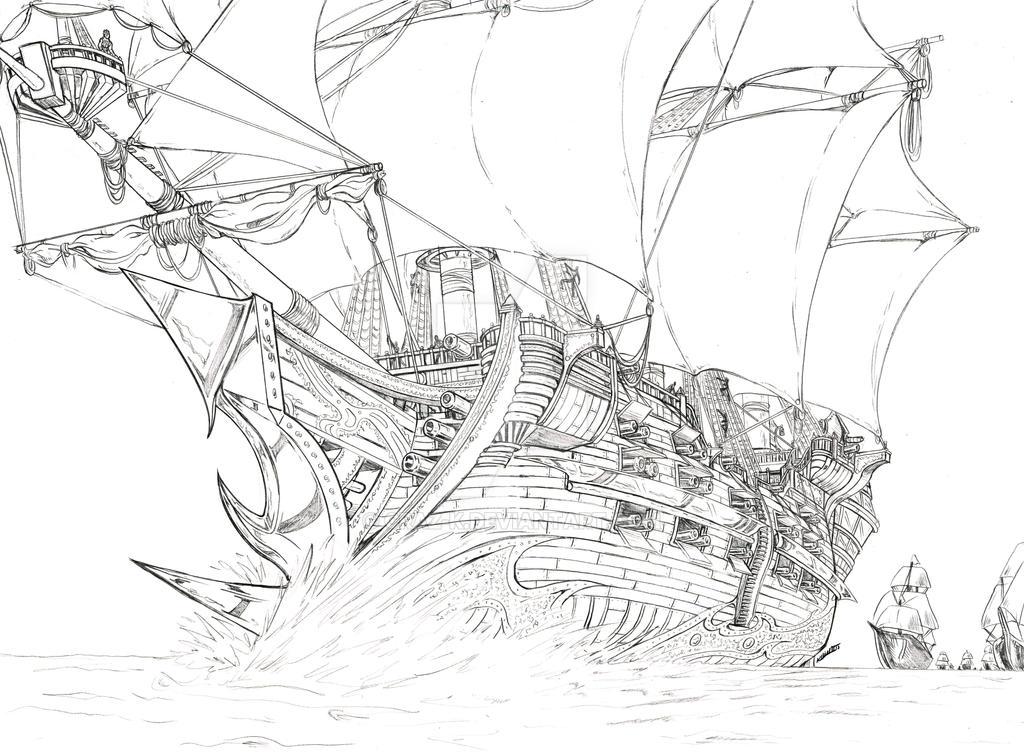 God of War pirate ship by CRaZ-K on DeviantArt
