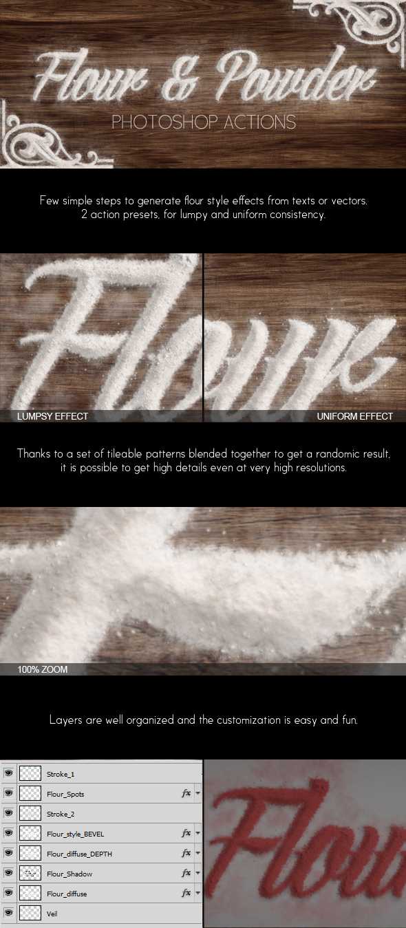 Flour and Powder - Photoshop Actions Pack by NuwanP