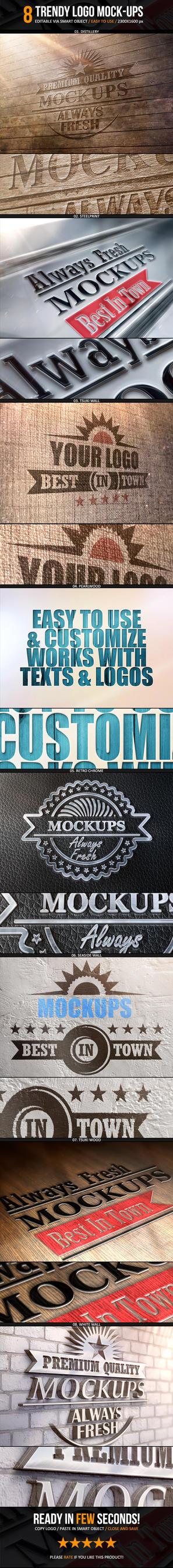 Trendy Logo Mockups - 8 Smart Templates by NuwanP
