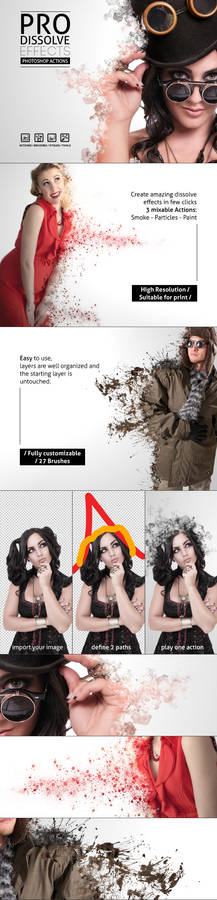 Pro Dissolve Effects - Photoshop Actions