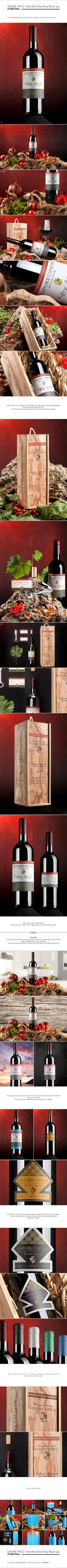 Sapore Tipico - Red Wine Branding Mock-ups by NuwanP