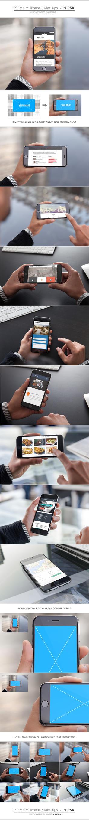 Premium iPhone 6 Mockups by NuwanP