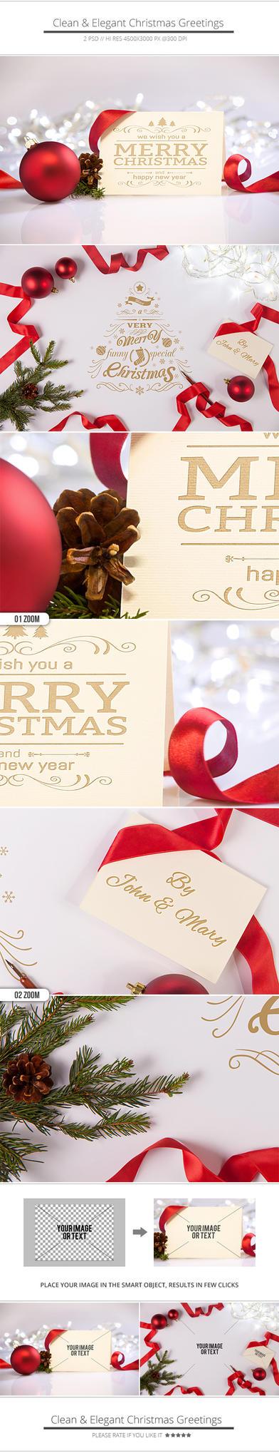 Clean and Elegant Christmas Greetings by NuwanP
