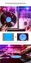 Vinyl Record and Album Cover Mockups