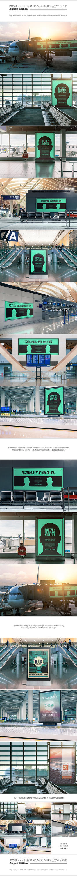 Poster / Billboard Mock-ups - Airport Edition by NuwanP