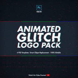 Animated Glitch Logo Pack - Photoshop Templates
