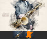 Jazzman - Watercolor Artist Action by NuwanP