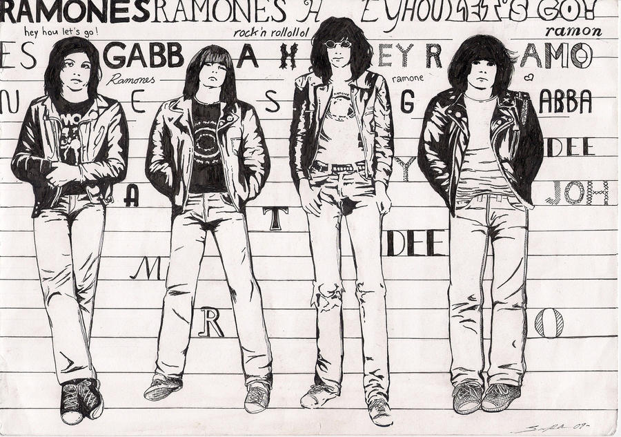 The Ramones by Anguliinu