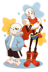 Sans and Papyrus by Wraitany