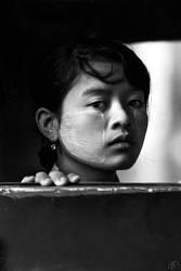 Burmese girl I by Babettevr